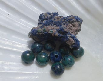 Azurite Malachite 6mm Round Beads