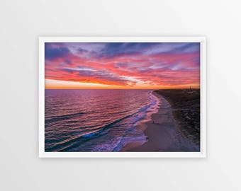 Sunset - Wall Art, Print, Aerial Photography, Drone, Home Decor, Aerial, Poster, Digital Print, Beach Print, Sunset Photography, Amazing