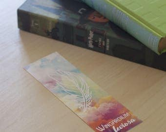 "Bookmark quote / spell Harry Potter - J.K. Rowling - ""Wingardium Leviosa"""