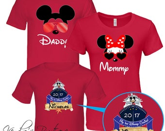 Disney Family Trip T-Shirts, Family Set, Mickey Family Disney Cruise 2018, Disney Family Cruise, Disney Cruise, Custom name and number