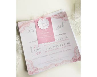 Share romantic wedding pink and lace