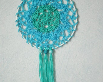Hand crocheted cotton lace ornament