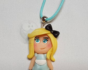 Miss Alice polymer clay necklace