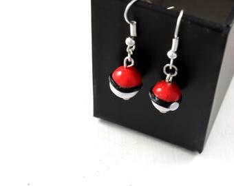 Pokeball earrings