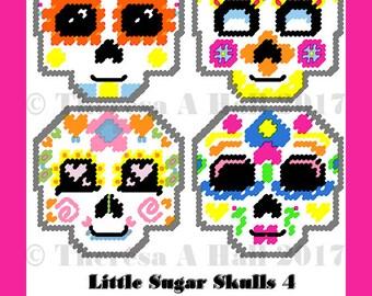 Little Sugar Skulls 4 Plastic Canvas Patterns