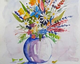 Country flowers in vase