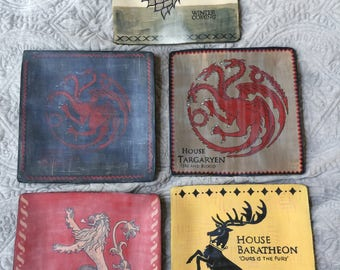 Game of Thrones homemade plate set