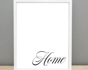 Home Printable Art