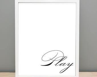 Play - Printable Art