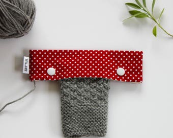 6in Needle Holder, DPN Cozy, Knitting Needle Holder, Crochet Needle Holder, DPN Case, Sock Knitting Holder, Double Pointed Needle Case, Snap