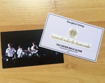 방탄소년단 BTS Bangtan Fan made Gold Metal Sticker