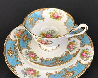 Duchess Blue Trio by Shelley | Fine Bone China made in England