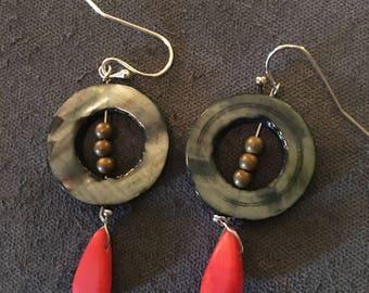 Coral Snake Earrings
