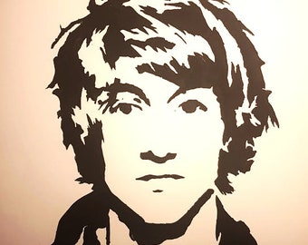 Alex Turner, Arctic Monkeys, Stencil Art Original Painting A3