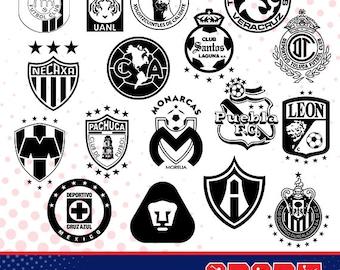Bundle soccer mexican silhouette logos, sport silhouettes, Soccer silhouette, soccer team logos silhouette SS-BU-03