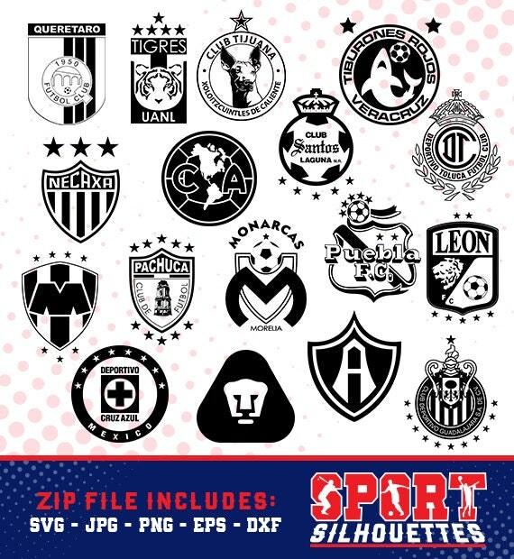 bundle soccer mexican silhouette logos sport silhouettes soccer silhouette soccer team logos silhouette ss bu 03