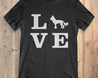 Chinese Crested Dog T-Shirt Gift: I Love Chinese Crested