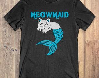 Cat T-Shirt Gift: Meowmaid