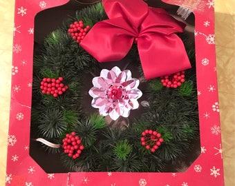 1950s Vintage Christmas Wreath, Vintage Ringalite Christmas Wreath, 1950s Christmas decoration