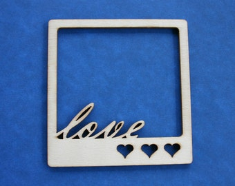 Wood Love Frame Shapes - Wood Shapes - Wooden Accessories - Scrap booking - Card making - Craft supplies