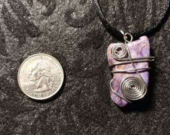 Purple Wire Wrapped Pendant