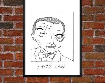 Badly Drawn Fritz Lang - Film / Movie / Cinema Poster