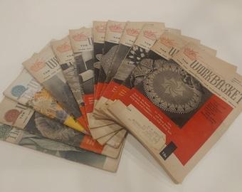 Set of 12 Vintage Workbasket Magazines 1959