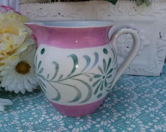 Czechoslovakia Luster ware Pitcher Pink