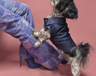 Dog Shirt | The Denim Daze Shirt | Dog Clothes | Dog Apparel | Dog Shirts for Dogs | Pet Clothing | Dog Button Up | Chambray Shirt