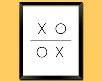 XO Art Print, Xo Digital Print, Xo Print, Xo Wall Art, Xo Romantic Art, Xo Bedroom Decor, Xo Wall Decor, Xo Home Decor, Art Prints | M0037