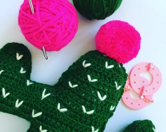 Crochet Cactus Cushion PDF Pattern