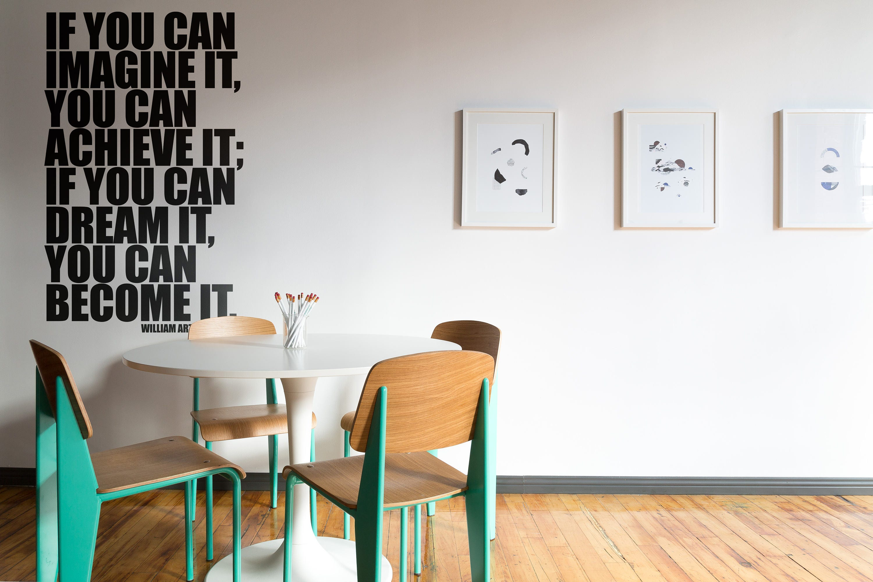 Typography Wall Decals, Home Decor, If you can imagine it you can ...