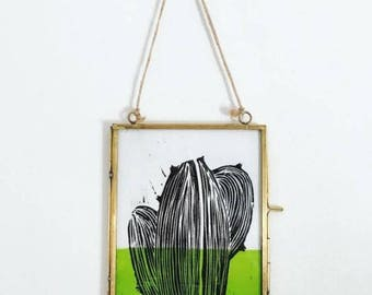 Cactus Lino Print A5