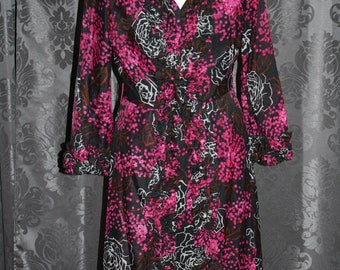 1970's Floral Lounge Dress&Jacket/1970/Vintage Dress/Floral Dress/Maxi Dress/Disco/Retro/1970 DayWear/1970s Dress/1970s Floral Dress