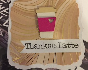 Thanks A Latte Blank Notecard