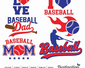 Baseball SVG Files, Baseball Cutting Files, Silhouette Files, Cricut Files, Vinyl Decal, Baseball Layered Vector, dxf eps png jpg pdf, D/004