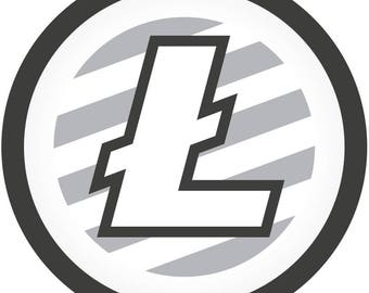 Crypto Litecoin (LTC) Supporter Vinyl Window/Laptop/Bumper Sticker