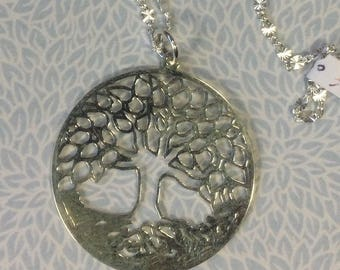 Sterling silver Tree of Life pendant/necklace