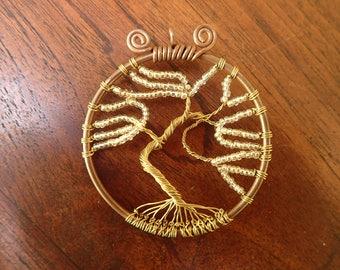 Tree of life. Gold tree. Tree pendant. Copper tree. Tree. Festival.