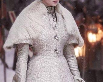 GOT Sansa Stark Handmade White Wedding Dress Custom Made