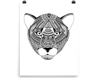 Black Lioness Print