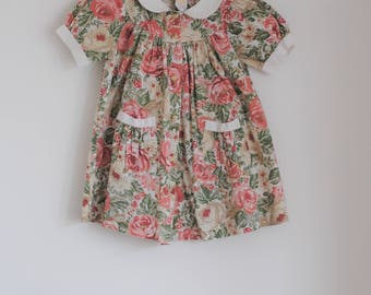 Vintage girls dress 6-12 months