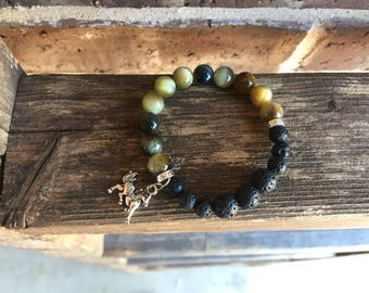 Children's Natural Dream Tiger Eye Gemstone Essential Oil Diffuser Bracelet