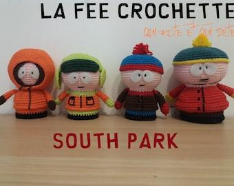 South Park quartet (Kenny, Kyle, Stan, Eric). Set of 4 characters