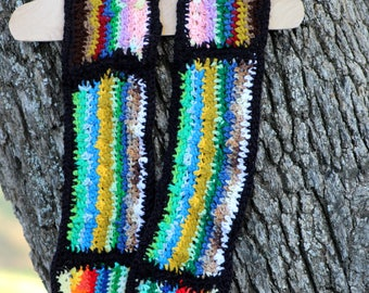 Scarf- Colorful Handmade Scarf, Crochet Scarf, One of a Kind Scarf, Gift Scarf, Rainbow Scarf, Navajo inspired Scarf, Homemade Scarf, SCARF
