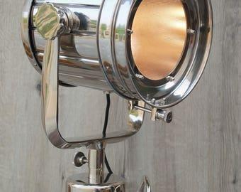 Chrome Studio Industrial Tripod Floor Lamp