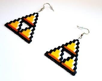 Beads - Triforce Zelda earrings