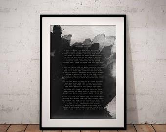 If by Rudyard Kipling Poem Quote Printable