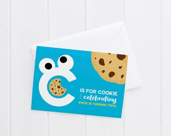 cookie monster party invitation