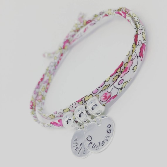 Grigri MOM Liberty - Liberty Eloise Bracelet pink with 2 custom ENGRAVINGS